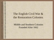The Restoration Colonies.ppt