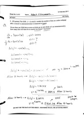 Differential Equations Test 1