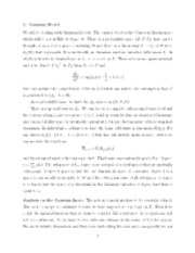 Gaussian model notes