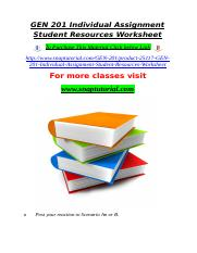 GEN 201 Individual Assignment Student Resources Worksheet.doc