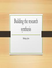 Building the research synthesis.pdf