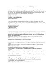 Leadership and Management NCLEX Questions 1.docx