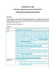 Q&A on Intention, Agreement, Consideration(1).docx