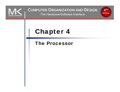 Lec Chapter 03 Pdf Computer Organization And Design The Hardware Software Interface Chapter 3 Arithmetic For Computers 5th Edition Operations On Course Hero