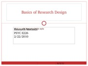 Basics of Research Design 2.22