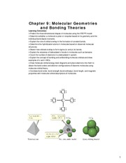 Study Guide on Molecular Geometries and Bonding Theories