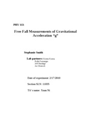 PHY 113- free fall- lab 3