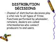 Distribution systems (Presentation)