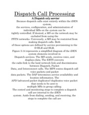 Dispatch Call Processing