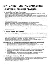 Notes on Required Reading