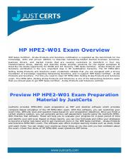 HPE2-W01 Selling Aruba Products and Solutions Exam Dumps
