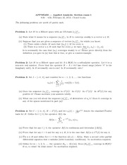 Midterm Exam 1 Spring 2013 on Applied Analysis 2
