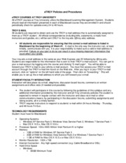 BIO1100 eTROY Policies and Procedures 2011 T1