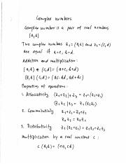 01 Complex numbers