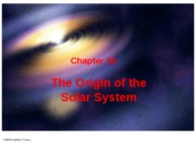 Ch 16 (The Origin of the Solar System)