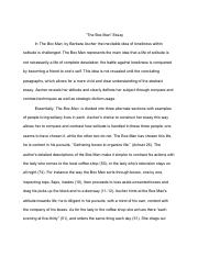 Thesis Statement For Argumentative Essay  Pages Untitleddocument Importance Of English Essay also Business Essay Structure The Box Man Rhetorical Analysispdf  M A Ewe V A Wsab  Analyzing  English Essay Book