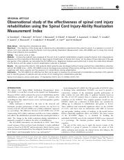 Observational study of the effectiveness of spinal cord injury.pdf