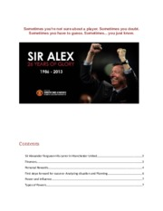 Alex Ferguson as a successful leader