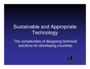 Sustainable and Appropriate Technology