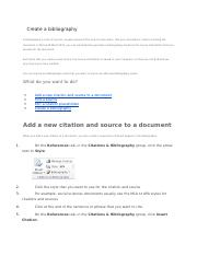 Create a bibliography.docx