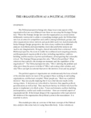Class 3 The Organization as a Political System (4)