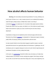 How alcohol affects human behavior.docx