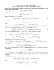 MATH 557 Complete Statistics in the Exponential Family Notes