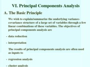 STAT Principal Components Analysis