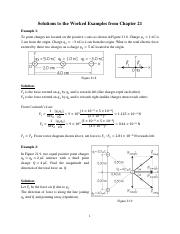 Solutions to Chapter 21 Electric Charge and Electric Field