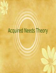Acquired Need Theory .ppt