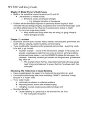 Final Study Guide Chapter 26 and 27