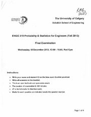 ENGG 319 Fall 2013 Final Exam & Solutions