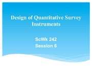 Session 6 Slides PDF Quantiitative Survey Instruments