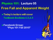 Free Fall and Apparent Weight Lecture