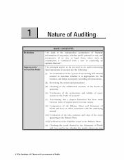 Chapter 1 Nature of Auditing
