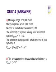 Quiz 4 Answer