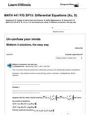 MATH 441 F-G SP15- Midterm 2 solutions, the easy way