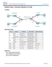 6.4.3.3 Packet Tracer