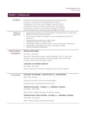 Nancy New Resume