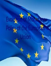 Evolution of Monetary Policy in the European Union