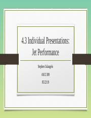 Colangelo - 4.3 - Individual Presentation- Jet Performance.pptx