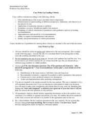 HA4449_6649  Fall 08 Case Analysis Guidelines