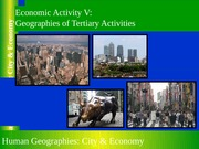 GEOG 1HB3 - 2013W - Lecture 22 - Economic Activity V - Tertiary Activities - Geography of Services -