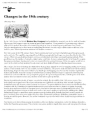 "Changes in the 19th century â€"" North American Indians"