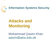 Lecture-2 Attacks and Monitoring
