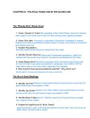 Microsoft Word - chapter 23 Study Guide