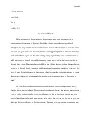 Literary Analysis Paper For Bless Me, Ultima.docx