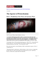 The Specter of Protectionism 5.10.2010