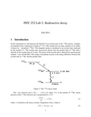 PHY 252 Lab 2- Radioactive decay