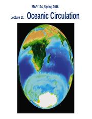 Lect 11 incomplete - Oceanic Circulation.ppt